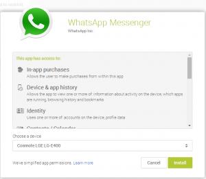 Remote Install App Permissions