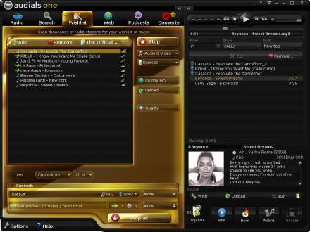 Audials One Screenshot