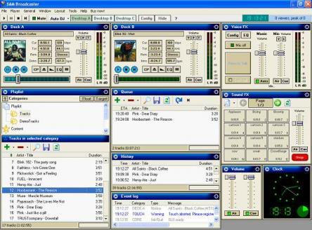 SAM Broadcaster LITE Screenshot