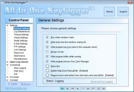 All In One Keylogger Screenshot