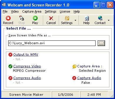 Webcam and Screen Recorder Screenshot
