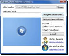 Windows 7 Folder Background Changer Screenshot