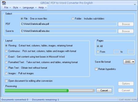 PDF to Word Converter Screenshot