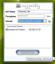 Connectify Hotspot Screenshot