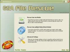 GSA File Rescue Screenshot