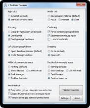 7+ Taskbar Tweaker Screenshot
