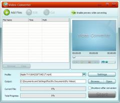 GiliSoft Video Converter Screenshot