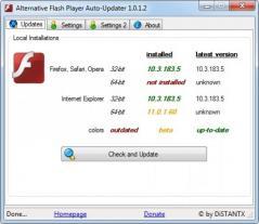 Alternative Flash Player Auto-Updater Screenshot