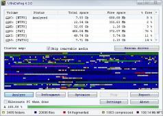 UltraDefrag Screenshot