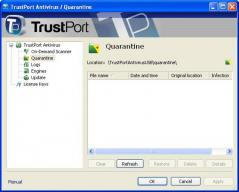 TrustPort Antivirus USB Suite Sphere Screenshot