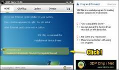 3DP Net Screenshot