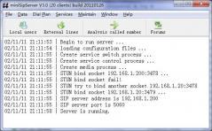 miniSipServer Screenshot