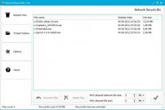 Network Recycle Bin Tool Screenshot