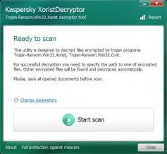 Kaspersky XoristDecryptor Screenshot