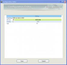 Configuration Editor Screenshot