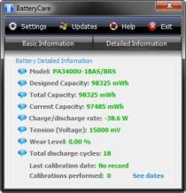 BatteryCare Screenshot