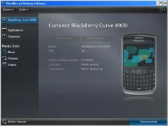 BlackBerry Desktop Software Screenshot