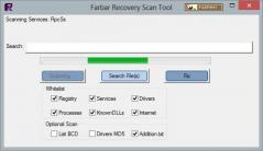 Farbar Recovery Scan Tool (FRST) Screenshot