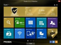 Panda Dome Premium (formerly Panda Gold Protection) Screenshot