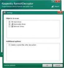 Kaspersky RannohDecryptor Screenshot