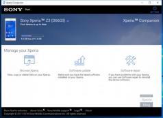 Sony Xperia Companion Screenshot