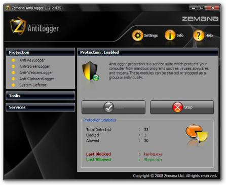 Zemana AntiLogger Screenshot