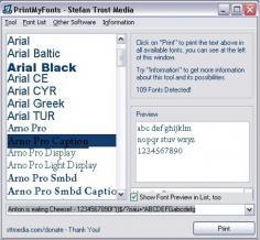 PrintMyFonts Screenshot