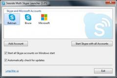 Seaside Multi Skype Launcher Screenshot