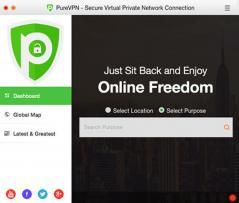 PureVPN Mac VPN Software Screenshot