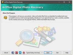 Art Plus Digital Photo Recovery Screenshot