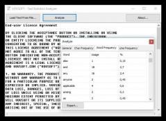 Text Statistics Analyzer Screenshot