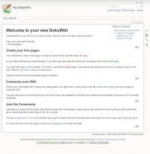 DokuWiki Screenshot