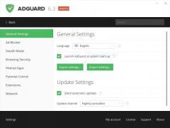 Adguard Web Filter Screenshot