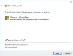 Show or Hide Updates Troubleshooter (wushowhide) Screenshot