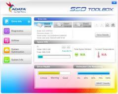 ADATA SSD ToolBox Screenshot