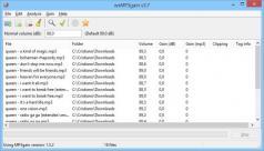 wxMP3gain Screenshot