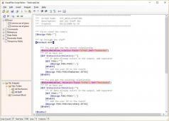 VisualFiles Script Editor Screenshot