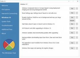 FixWin for Windows 10 Screenshot