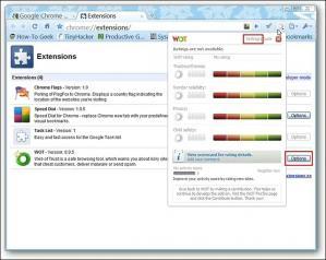 WOT for Chrome Screenshot