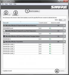 Shure Update Utility Screenshot