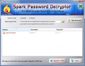Spark Password Decryptor Screenshot