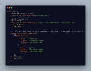 Toxiproxy Screenshot