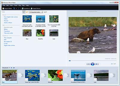 Windows Movie Maker (Windows Live Movie Maker) Screenshot