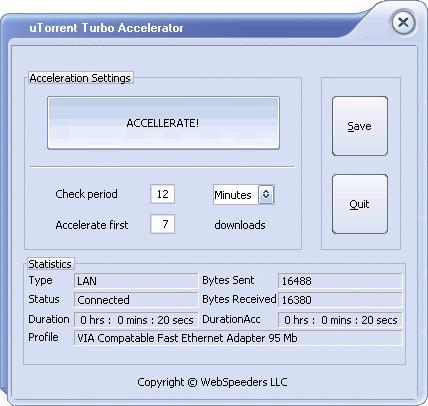 uTorrent Turbo Accelerator Screenshot
