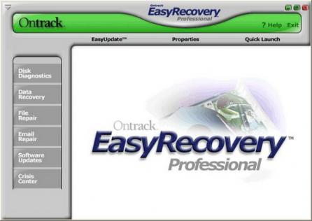 Ontrack EasyRecovery Professional Screenshot