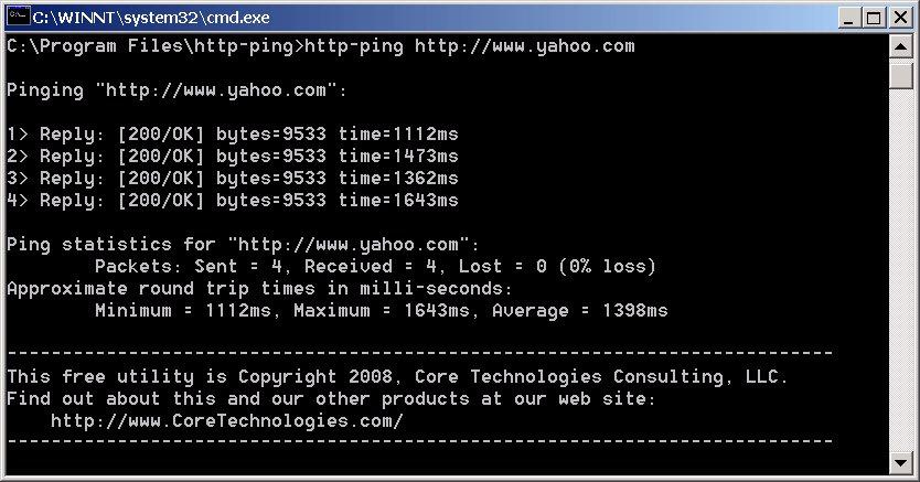 http-ping Screenshot