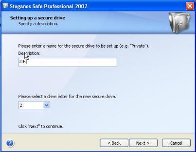 Steganos Safe Screenshot