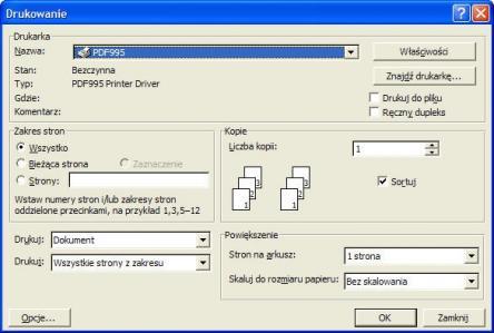 Pdf995 Printer Driver Screenshot