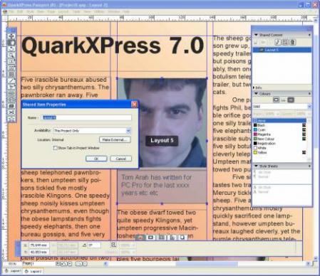 QuarkXPress Screenshot