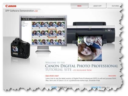 Canon Digital Photo Professional Screenshot
